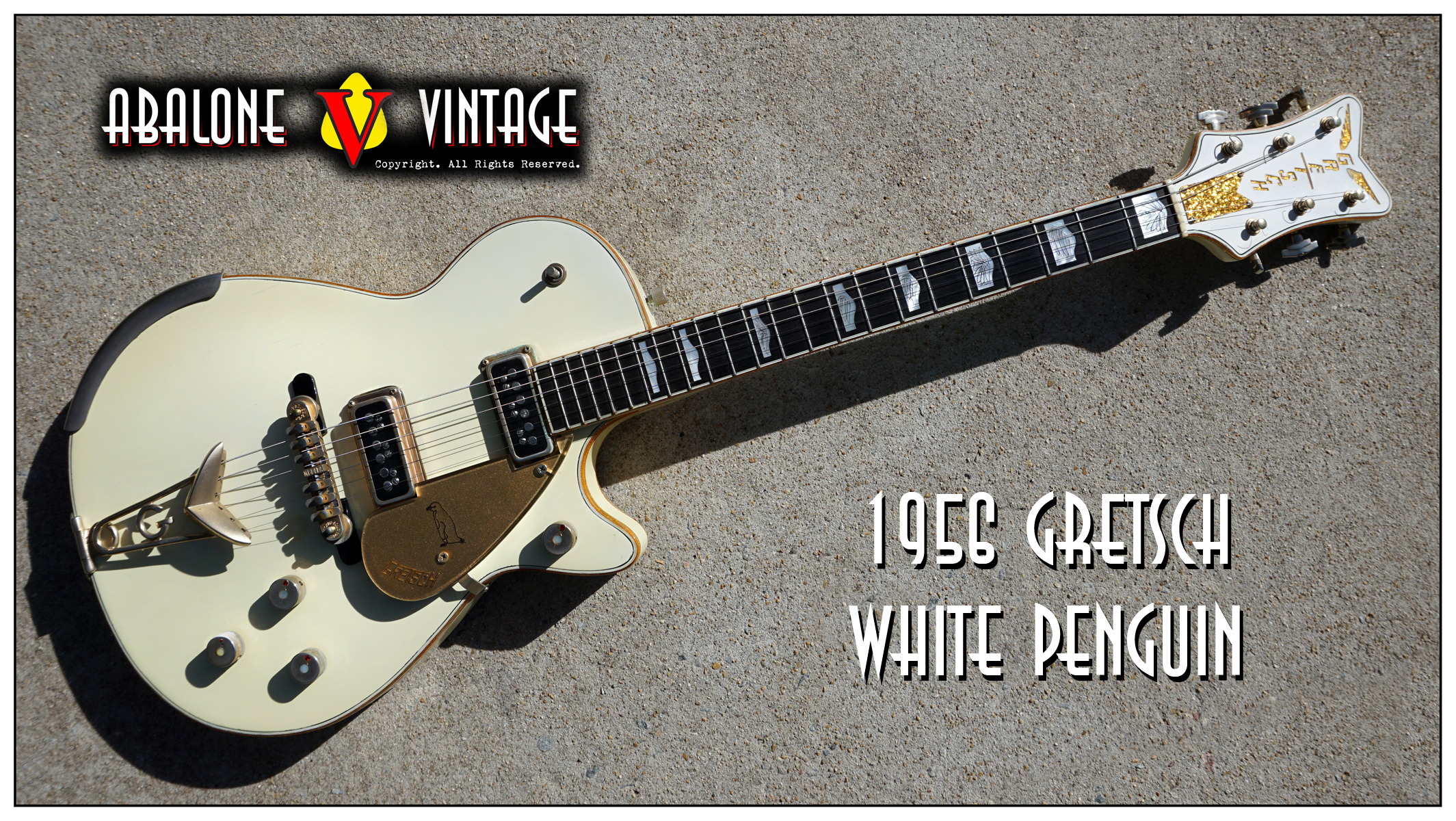 1956 Gretsch White Penguin Guitar Original Vintage Mr Clean