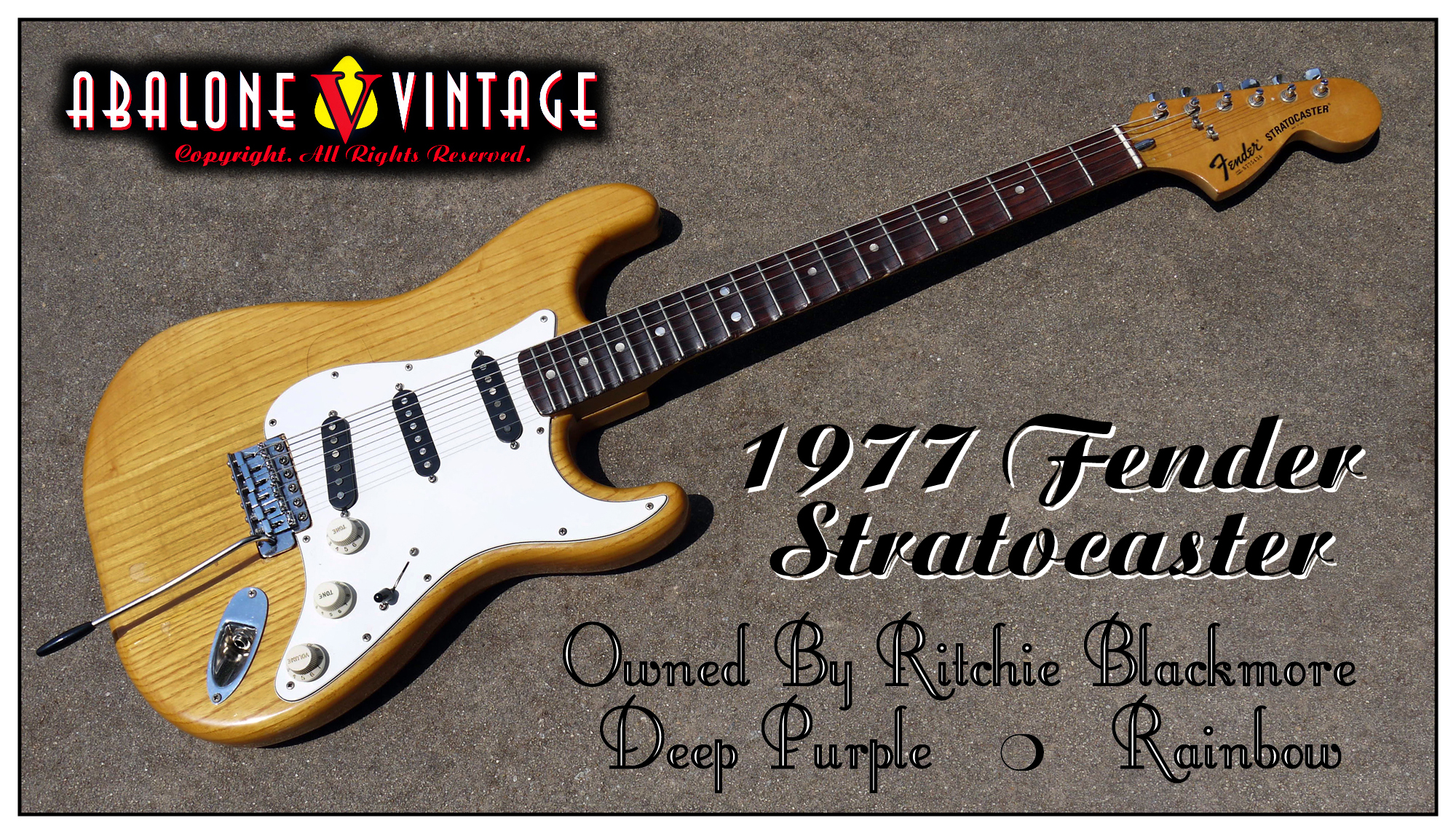 1977 Fender Stratocaster Owned By Ritchie Blackmore Of