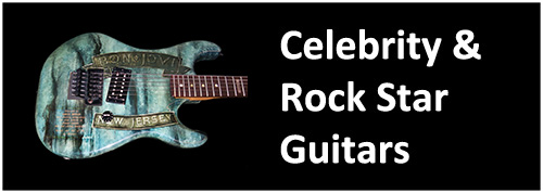 celebrity guitars van halen ace frehley kiss the who joe bonamassa bob dylan james hetfield metallica peter green fleetwood mac jerry garcia grateful dead stone temple pilots paul kossoff eric clapton ace frehley kiss led zeppelin the rolling stones rem bush gary moore peter green