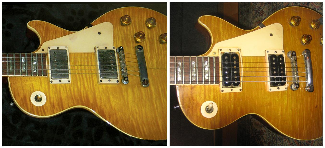 photos of Fake 1959 Gibson Les Paul guitars Forgery Replicas