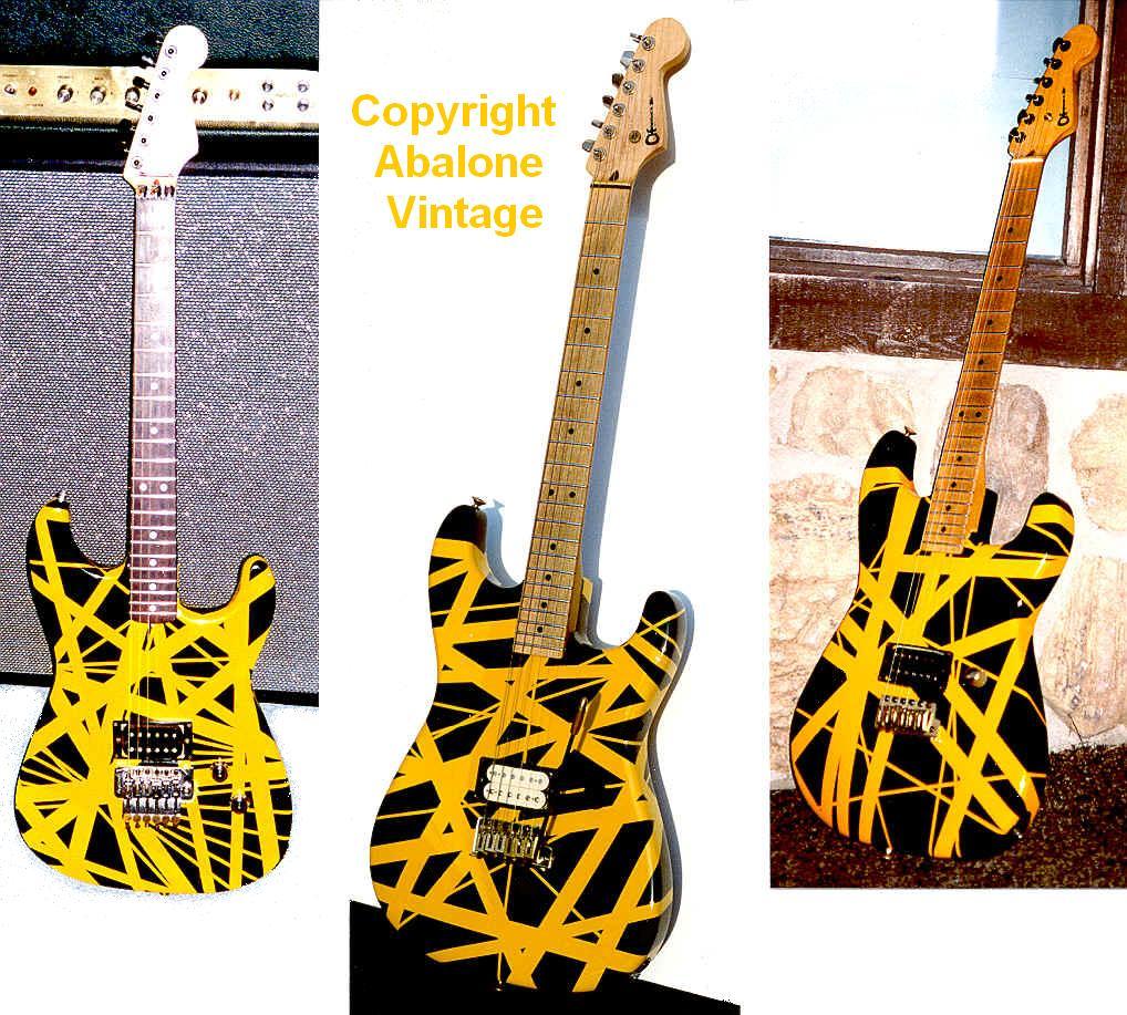 1980s San Dimas Charvel Guitars Van Halen Graphics