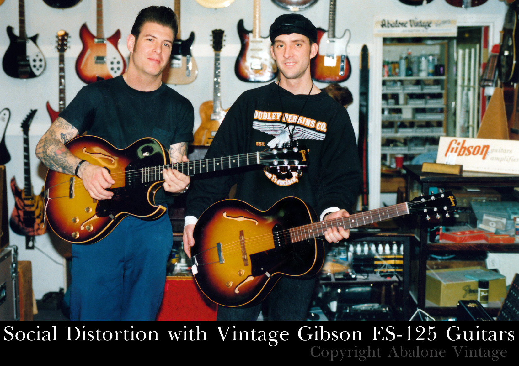 Social Distortion boys Mike Ness and the late Dennis Danell with some ...