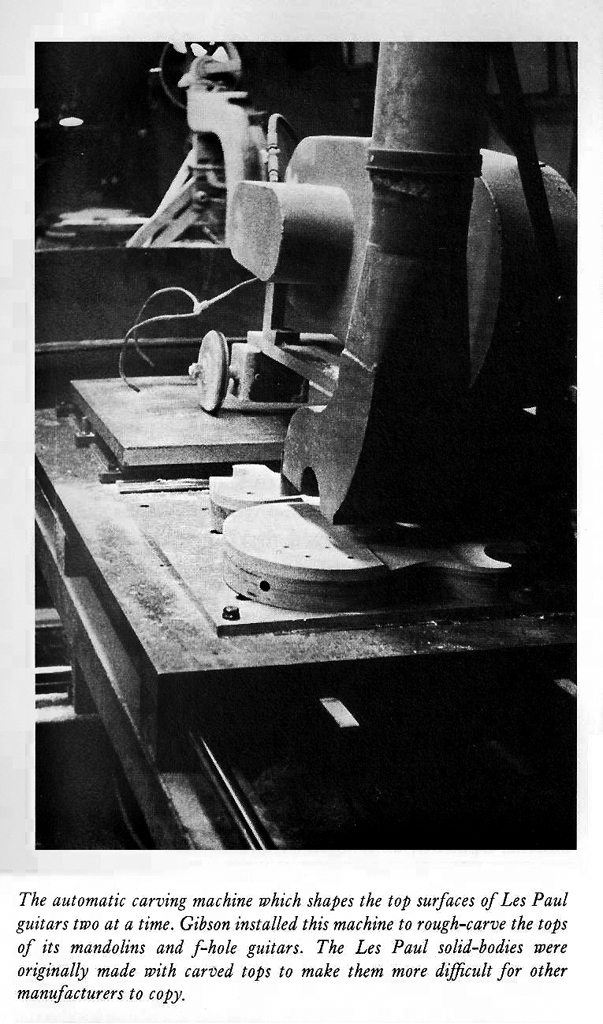 Original gibson factory machines tooling templates and for Les paul top carving template