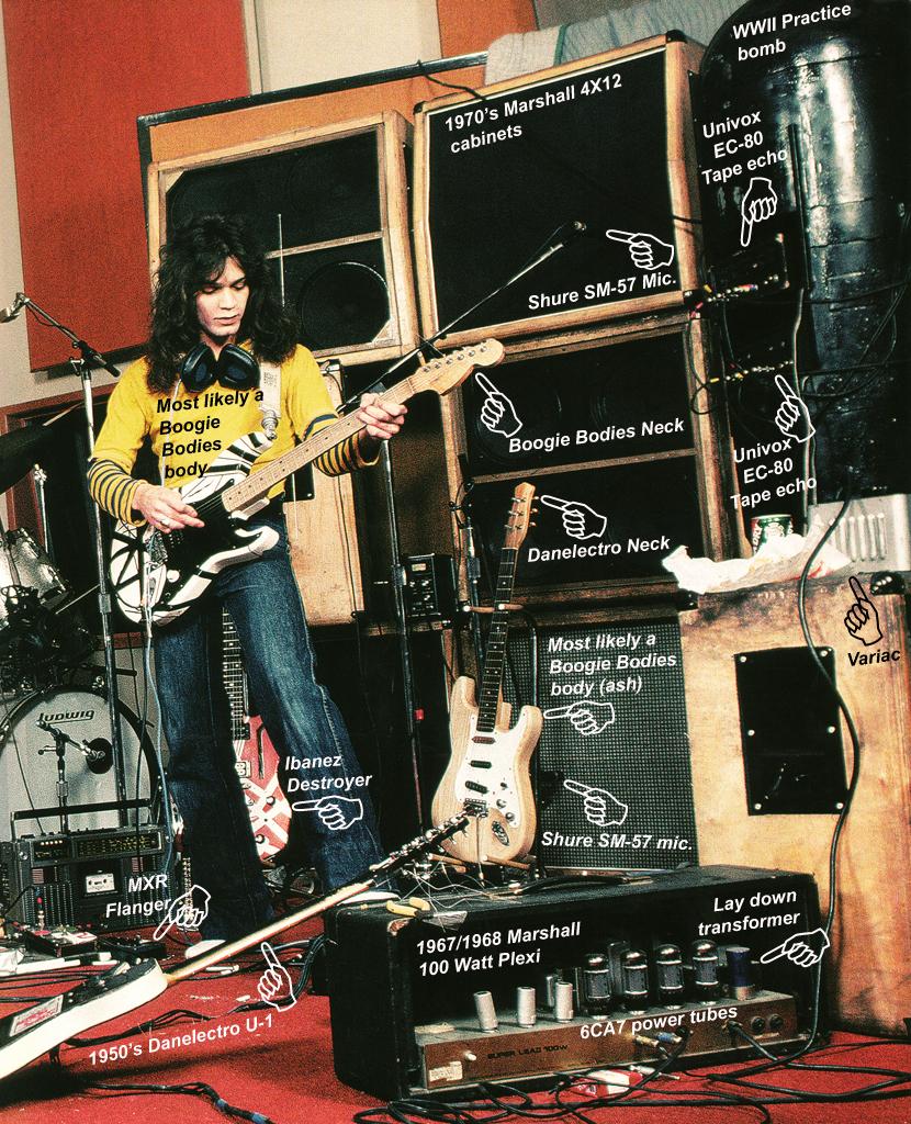 edward van halen guitar amps effect collection tone guitar rig 1978 1979 1980 1981 1982. Black Bedroom Furniture Sets. Home Design Ideas