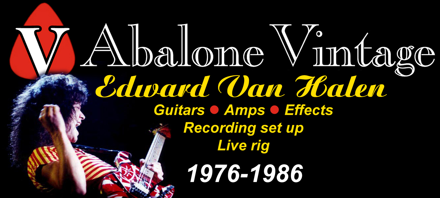 Logo Edward Van Halen Guitars Amps Effects Live Guitar Rig Boogie Bodies Charvel Marshall Recording Studio Av on Brian May Guitar Rig
